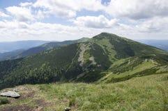 Caminhada de Ridge, montagem Maly Krivan a Chleb, Lesser Fatra, Eslováquia Imagem de Stock Royalty Free