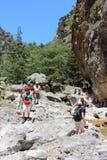Caminhada de Samaria Gorge Foto de Stock Royalty Free