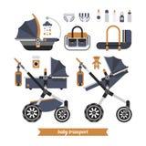 A caminhada do bebê ajustou 1 Fotografia de Stock