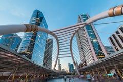 Caminhada do céu de Banguecoque fotos de stock royalty free