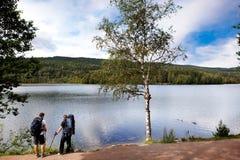 Caminhada do desengate de acampamento Imagens de Stock