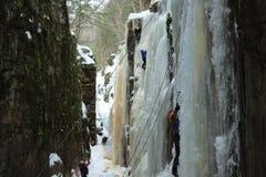 Caminhada do gelo Foto de Stock Royalty Free