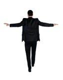 Caminhada do homem de negócio arriscada Fotos de Stock Royalty Free
