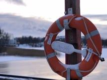Caminhada do inverno em Helsínquia imagens de stock
