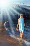 Caminhada do mar Imagens de Stock