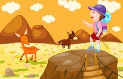 Caminhada do menino ilustração royalty free