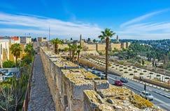 A caminhada do muralha Foto de Stock Royalty Free