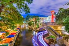 Caminhada do rio de San Antonio imagens de stock royalty free