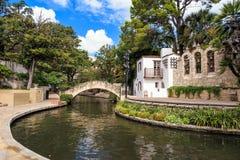 Caminhada do rio em San Antonio, Texas imagens de stock