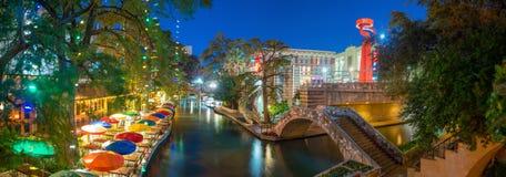 Caminhada do rio em San Antonio, Texas fotos de stock