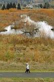 Caminhada do terreno Foto de Stock