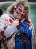 Caminhada do zombi Fotos de Stock