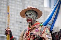 Caminhada do zombi Fotografia de Stock Royalty Free