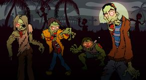 Caminhada do zombi Foto de Stock Royalty Free