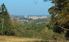A caminhada e o castelo longos de Windsor Fotos de Stock Royalty Free