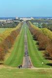 A caminhada e o castelo longos de Windsor Imagem de Stock Royalty Free
