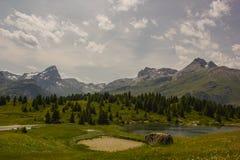 Caminhada em Alp Flix Fotos de Stock Royalty Free