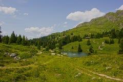 Caminhada em Alp Flix Fotografia de Stock Royalty Free