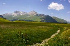 Caminhada em Alp Flix Fotos de Stock