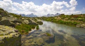 Caminhada em Alp Flix Foto de Stock Royalty Free