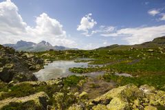 Caminhada em Alp Flix Imagens de Stock Royalty Free