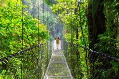 Caminhada em Costa Rica imagens de stock
