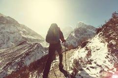 Caminhada em Himalaya imagem de stock