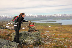 Caminhada em Lapland imagens de stock