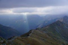Caminhada em montanhas de Tatra Fotos de Stock Royalty Free