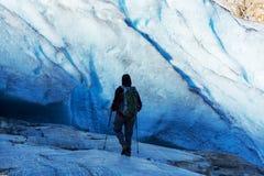 Caminhada em Noruega Foto de Stock