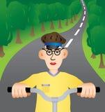 Caminhada em uma bicicleta Foto de Stock