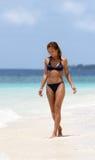 Caminhada em uma praia Imagem de Stock