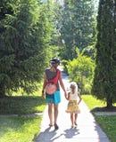 Caminhada ensolarada da manhã Foto de Stock Royalty Free