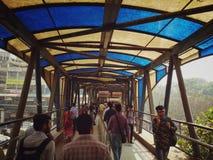 A caminhada estava em Mumbai Fotografia de Stock