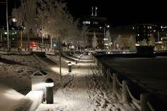 Caminhada gelado do porto Fotos de Stock Royalty Free