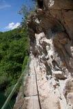 A caminhada idílico do lago Matka perto de Skopje, Macedônia Fotografia de Stock Royalty Free