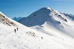 Caminhada ida na montanha Foto de Stock Royalty Free