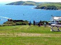 Caminhada litoral imagem de stock