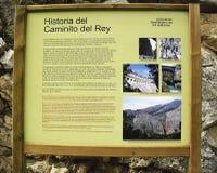 Caminhada malaga andalucia spain do ` s do rei Fotografia de Stock Royalty Free