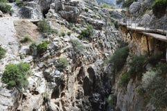 Caminhada malaga andalucia spain do ` s do rei Imagens de Stock