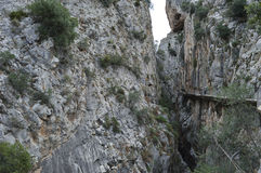 Caminhada malaga andalucia spain do ` s do rei Fotografia de Stock