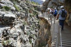 Caminhada malaga andalucia spain do ` s do rei Fotos de Stock Royalty Free