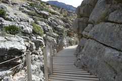 Caminhada malaga andalucia spain do ` s do rei Foto de Stock Royalty Free
