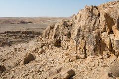 Caminhada na área de Mar Morto em Israel Fotografia de Stock