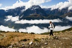 Caminhada na dolomite Imagem de Stock Royalty Free