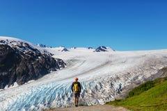 Caminhada na geleira da saída imagens de stock royalty free