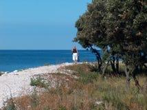 Caminhada na praia Fotografia de Stock Royalty Free