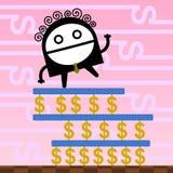 Caminhada na riqueza Imagem de Stock Royalty Free