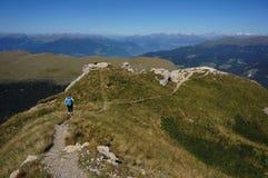 Caminhada nas dolomites/Val Gardena/para o sul Tirol Foto de Stock Royalty Free