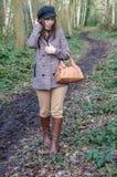 Caminhada nas madeiras fotos de stock royalty free